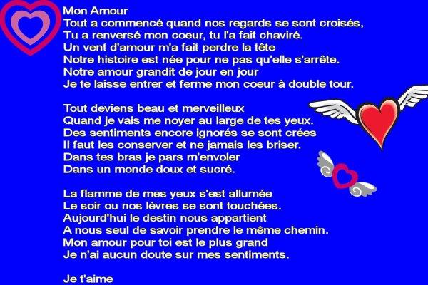 Poeme pour mon homme - Ma petite vie